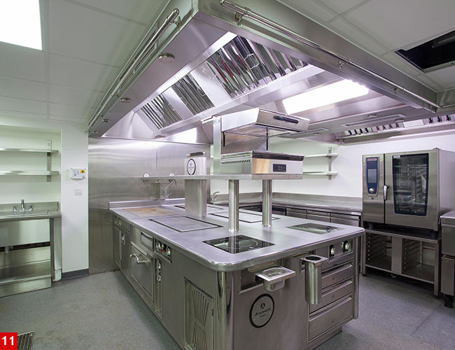 Athanor island cook suite at Lympstone Manor