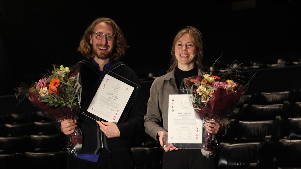 Sebastian Johansson Micci och Elsa Rosengren i Filmhuset i Stockholm den 18 november 2020. Foto: Hampus Svensson, Svenska Filminstitutet