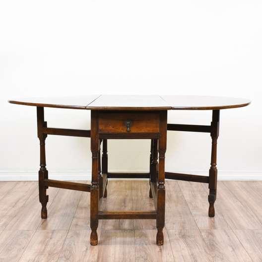Antique Gateleg Drop Leaf Dining Table