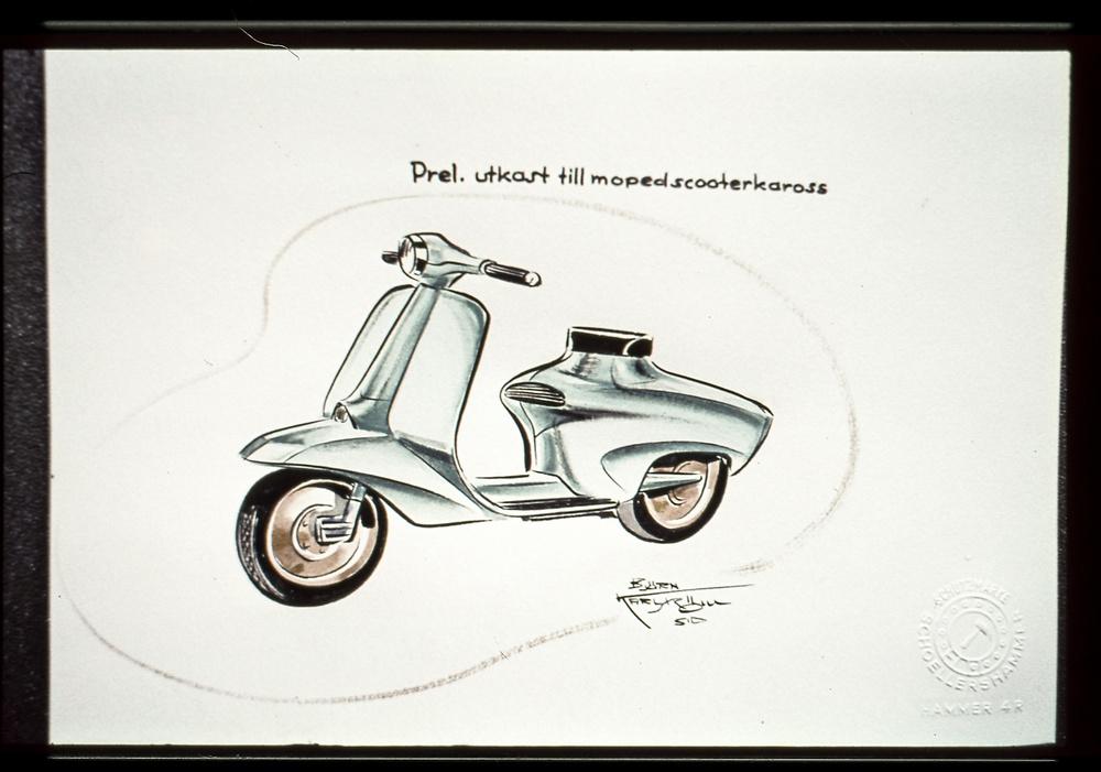 Den svenska mopedhistoriens kanske mest genomarbetade modell är Björn Karlströms Crescent Skoterett som växte fram i början på 1960-talet. Inspirerad av Lambretta och Vespa skapades en form som krävde stora investeringar i pressverktyg. Modellen blev en framgång, 1964-72.