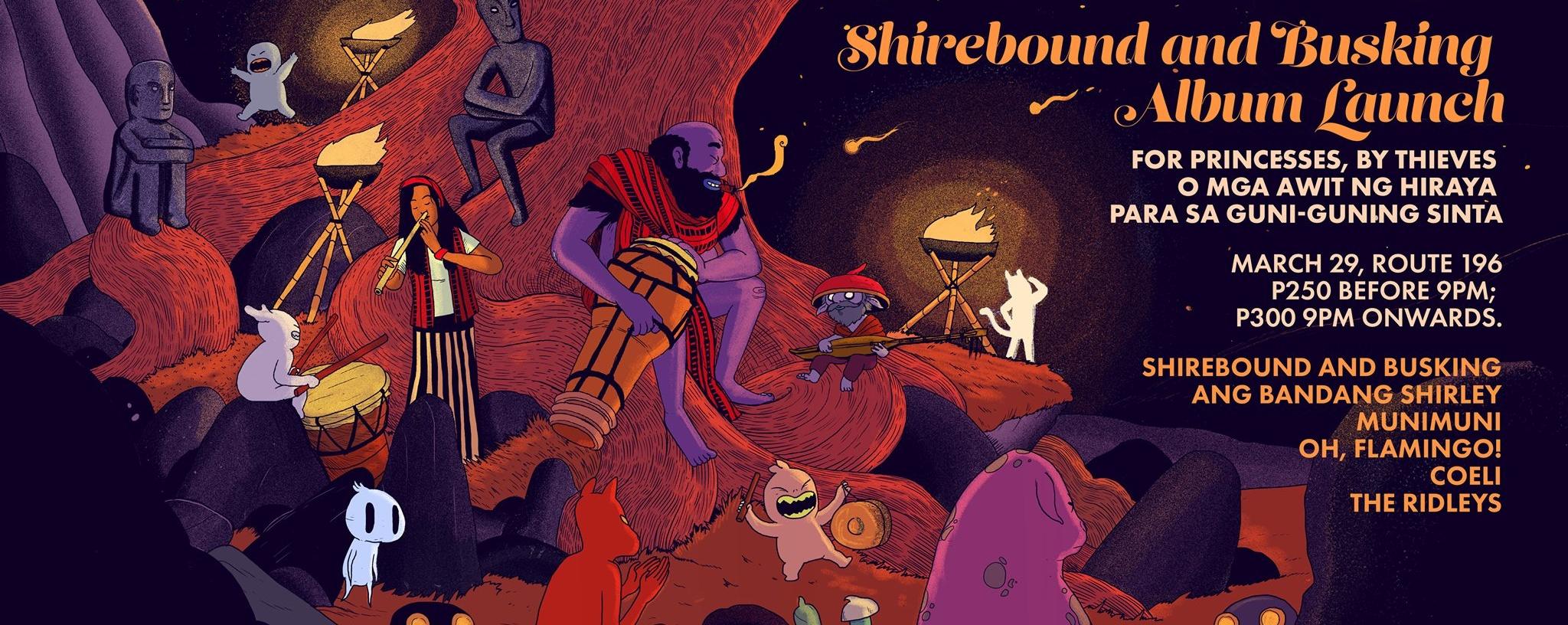Shirebound and Busking ALBUM Launch