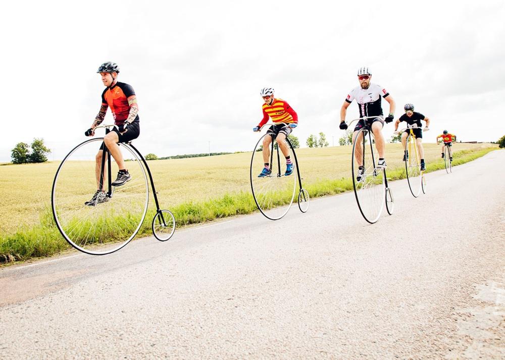 Den 26-28 juni avgörs för första gången i modern tid i Sverige en tävling för höghjulingar. Foto: Jens Nordström