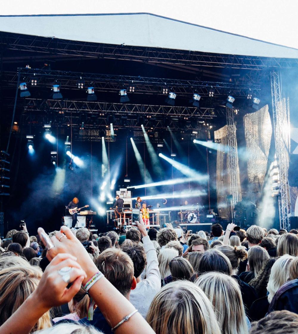 Utomhus musik konsert sommar