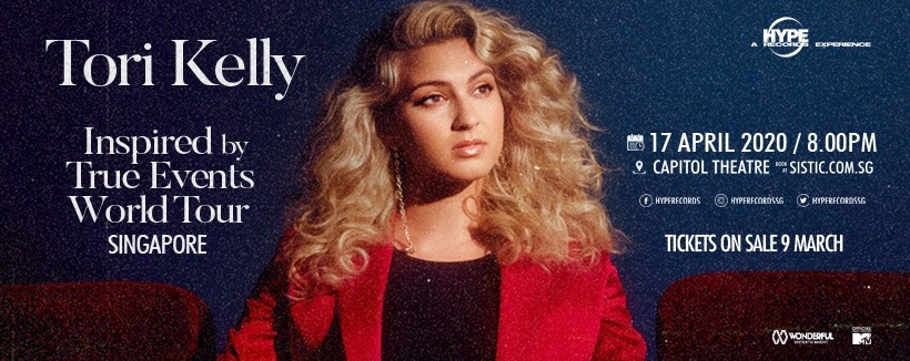 [CANCELLED] Tori Kelly Inspired by True Events World Tour