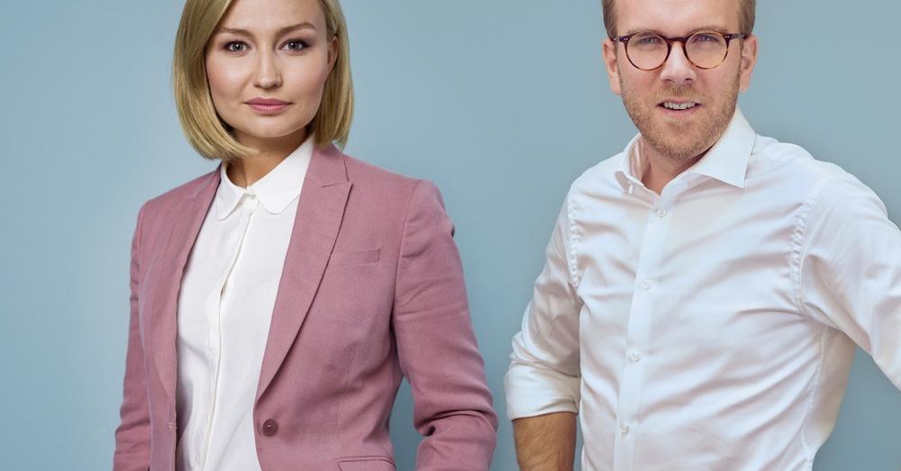 Ebba Busch och Andreas Carlson.