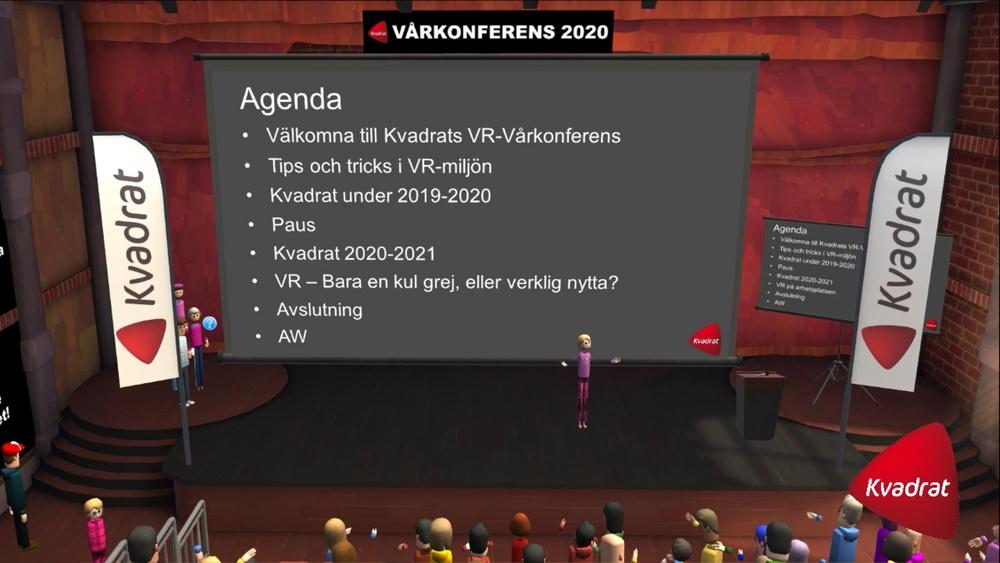 Kvadrats koncernchef Maria Hellström hälsar alla välkomna till Kvadrats vårkonferens 2020.