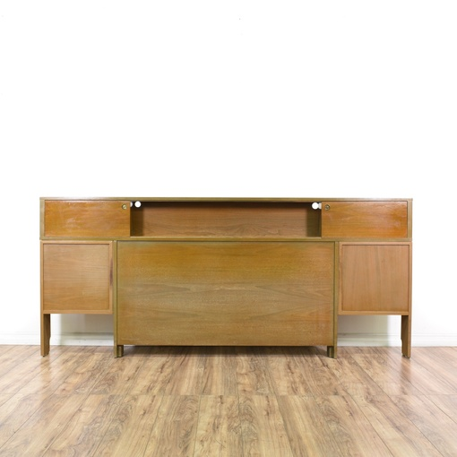 Mid century modern king storage headboard loveseat for Mid century modern furniture san francisco