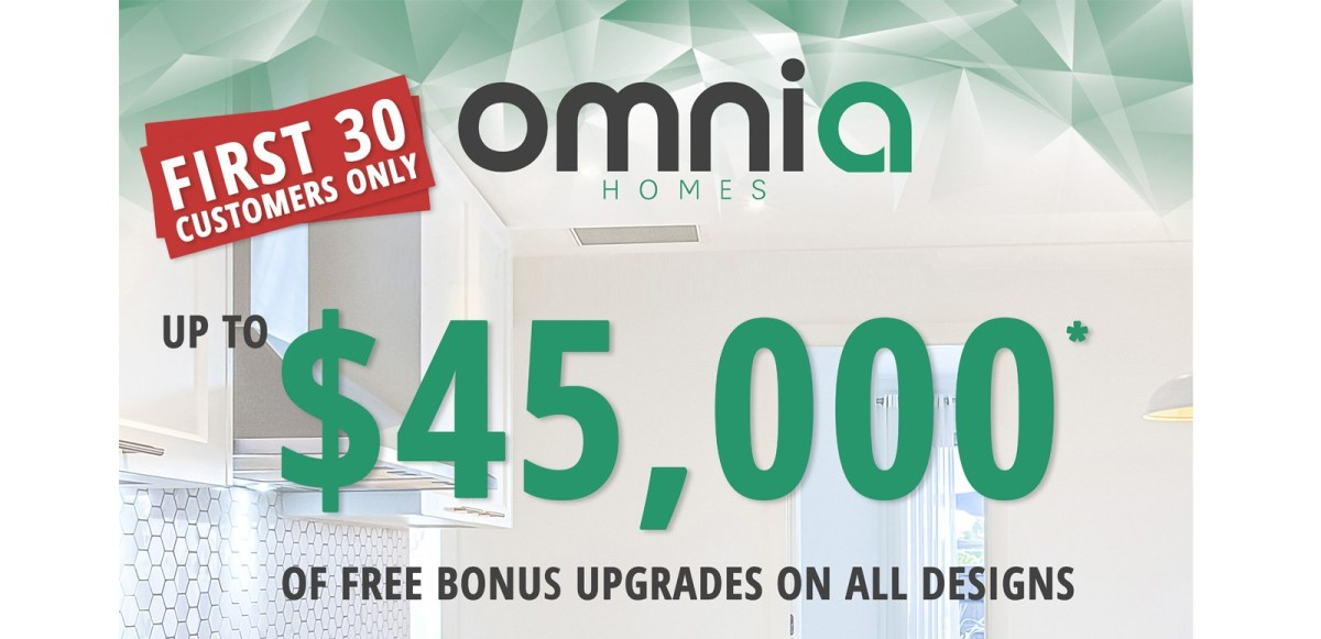 Up to $45,000 of free bonus upgrades