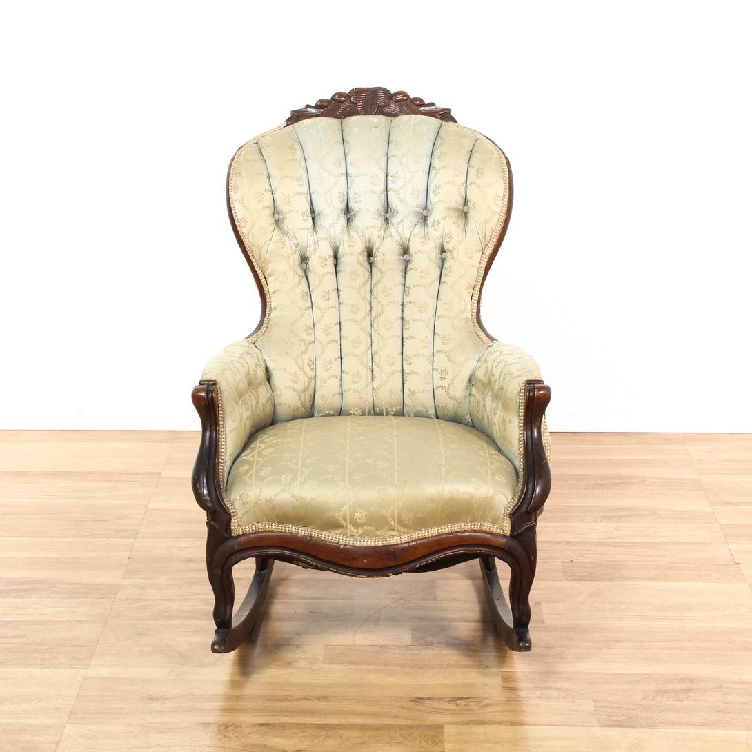 Victorian Rocker Rocking Chair Loveseat Vintage Furniture San Diego Los Angeles