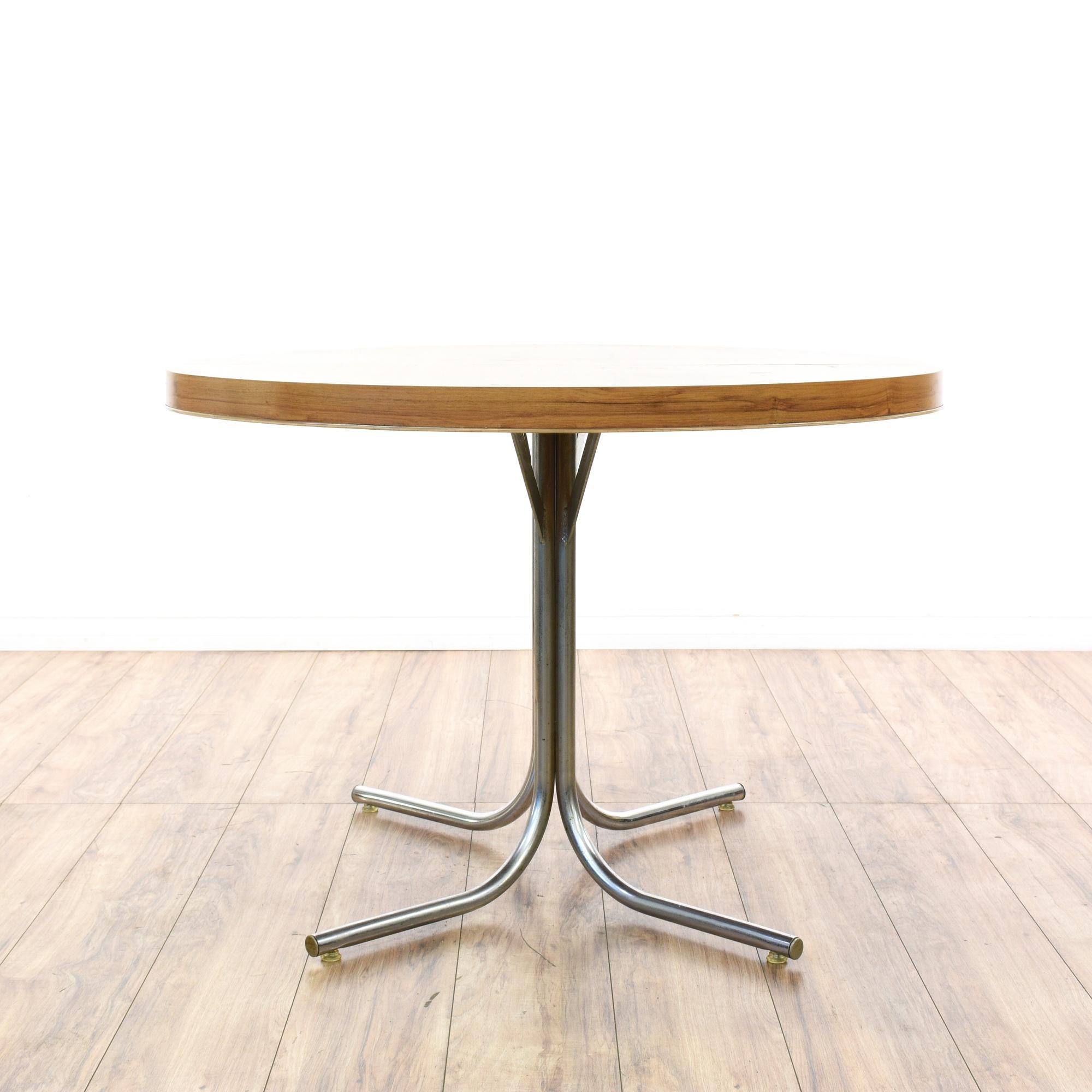 chrome base dining table loveseat vintage furniture san diego los angeles. Black Bedroom Furniture Sets. Home Design Ideas