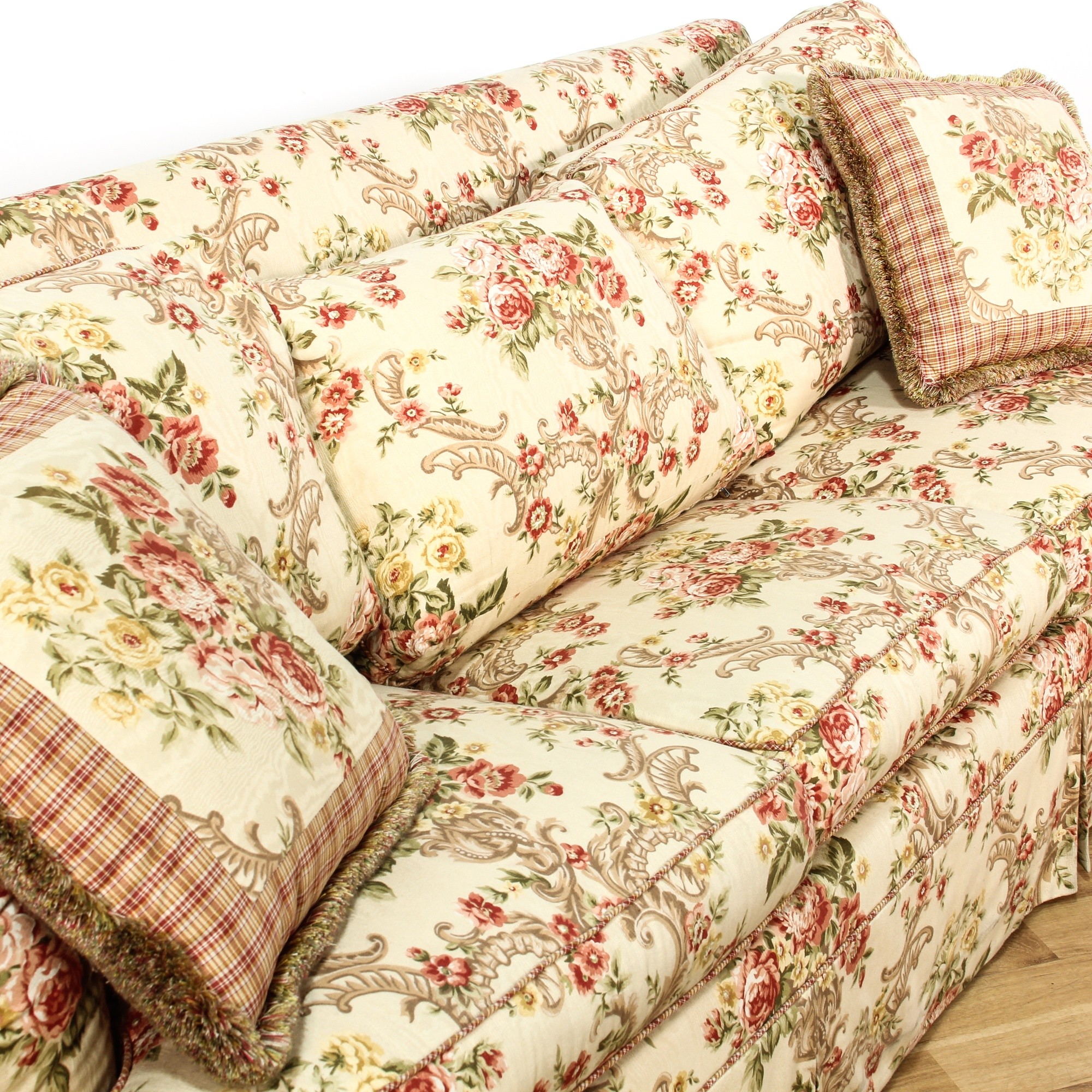 Floral upholstered sleeper sofa bed loveseat vintage for Floral sofa bed