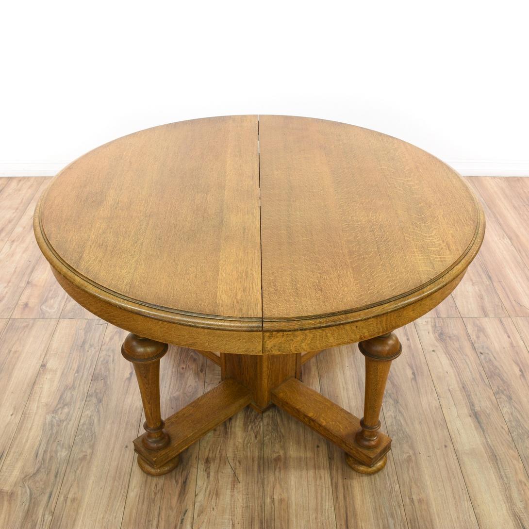 Round Turned Quarter Sawn Oak Dining Table Loveseat  : convertw1090amph1090ampfitcropamprotateexif from www.loveseat.com size 1090 x 1090 jpeg 170kB