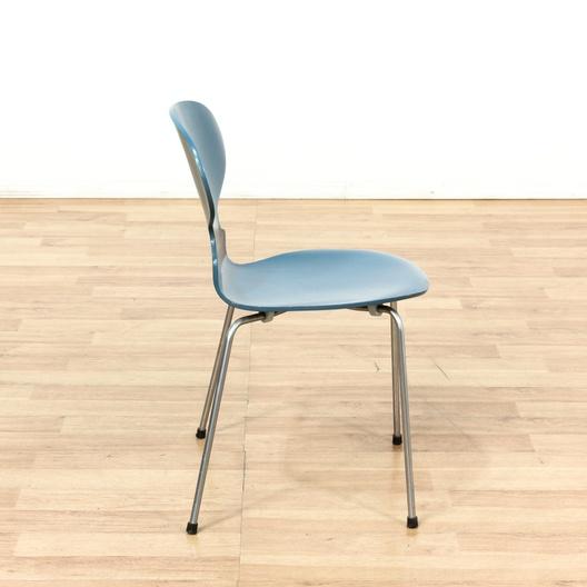 blue arne jacobsen ant chair 3101 made 1968 2 loveseat vintage furniture los angeles. Black Bedroom Furniture Sets. Home Design Ideas