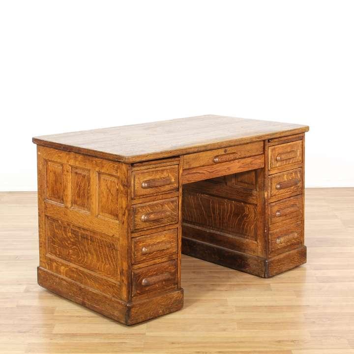 Quot Sligh Quot Leather Top Executive Desk Loveseat Vintage