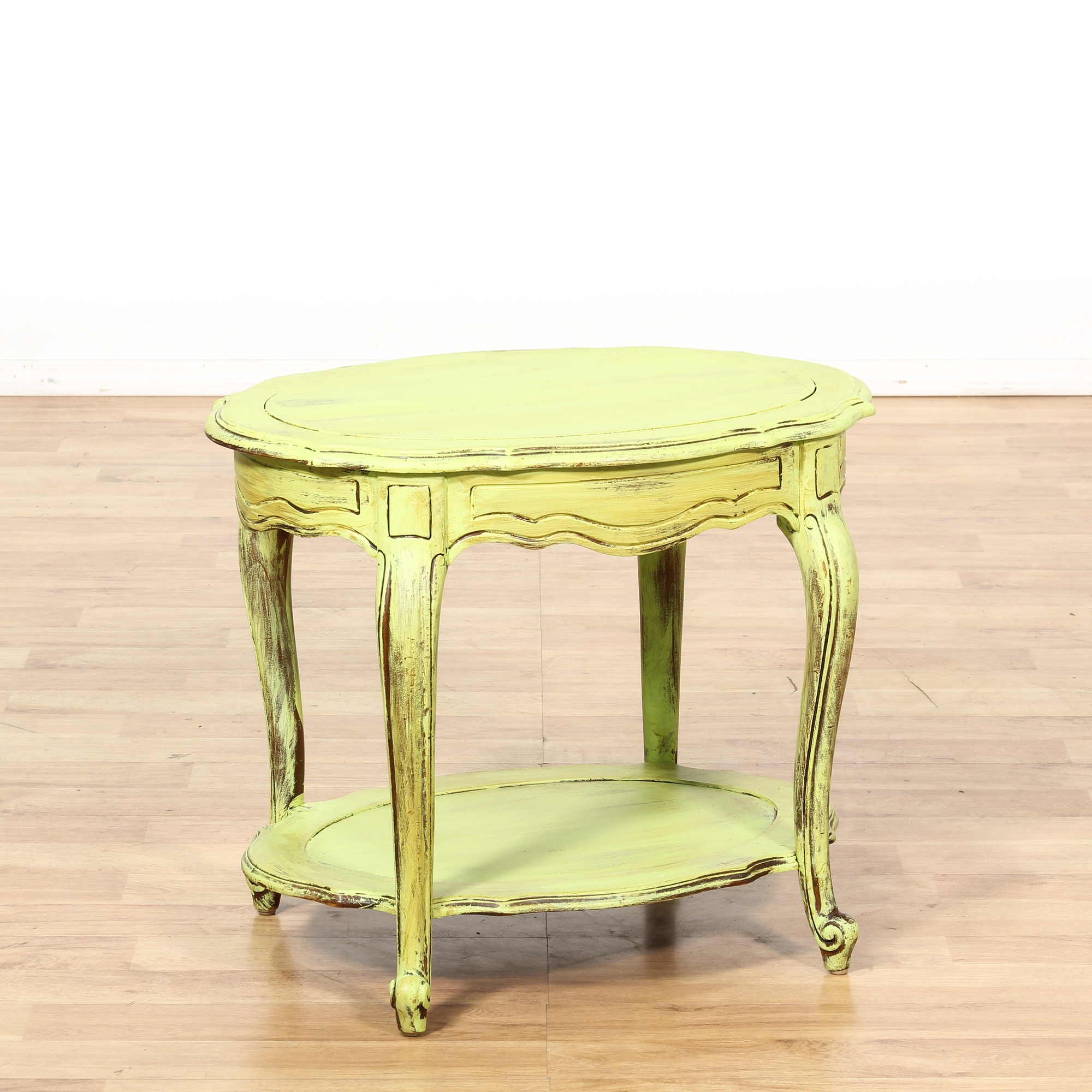Shabby Chic Light Green Tiered End Table Loveseat