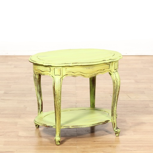 shabby chic light green tiered end table loveseat vintage furniture san diego los angeles. Black Bedroom Furniture Sets. Home Design Ideas