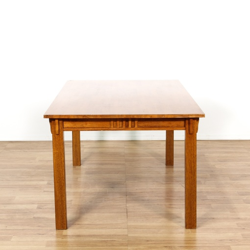 Solid Birch Mission Style Dining Table Loveseat Vintage Furniture San Diego Los Angeles