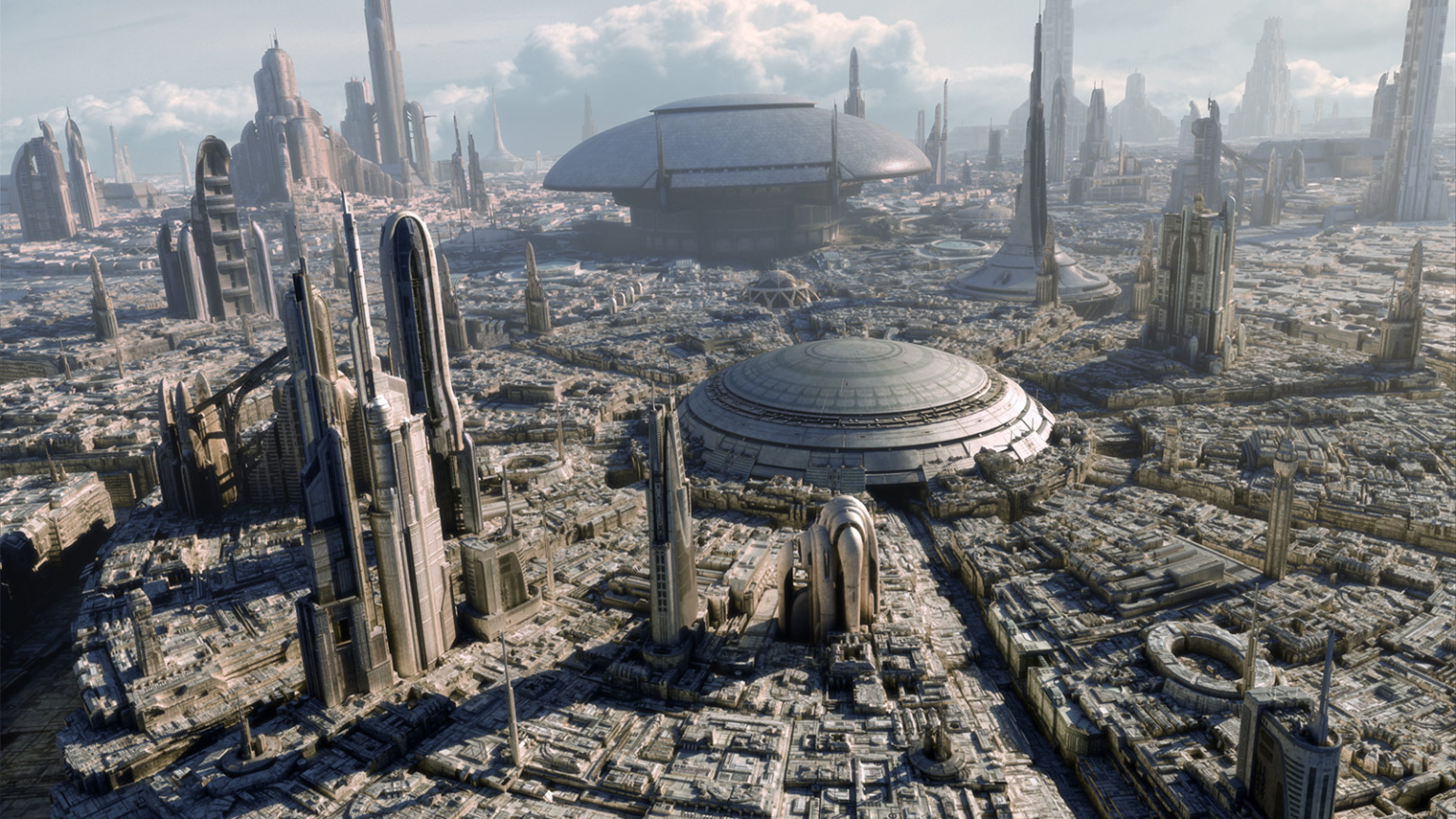 Cityscape of Coruscant from Star Wars