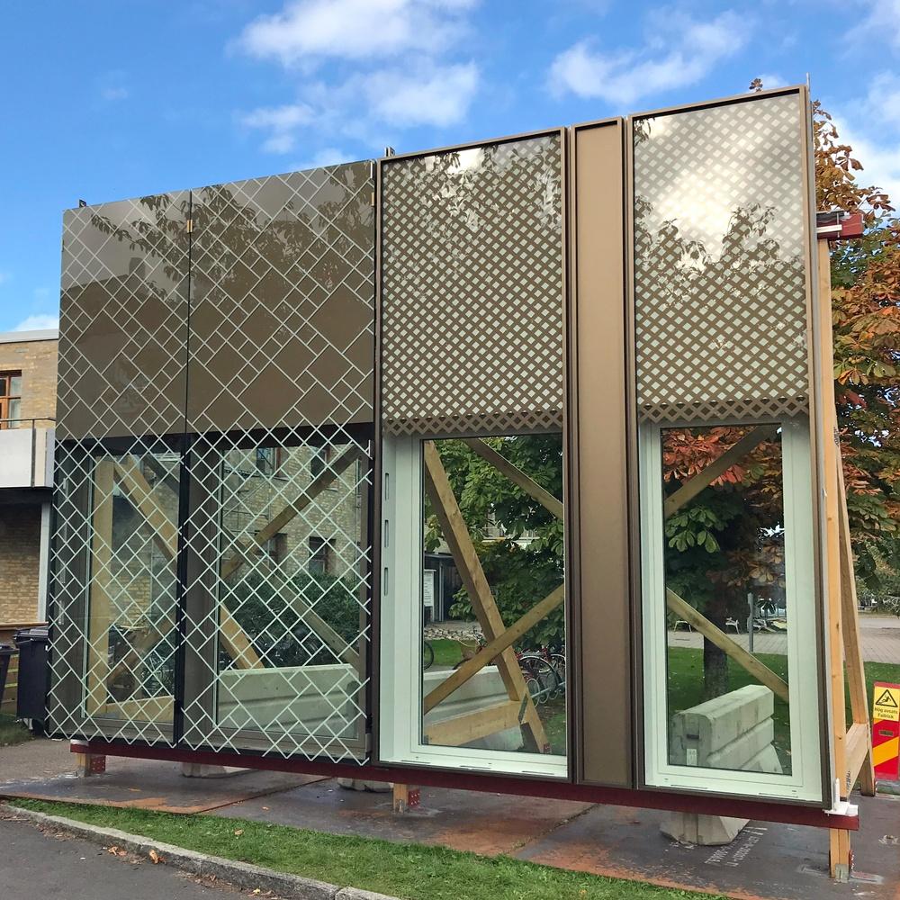 Skalenlig modell av Natriums fasad.