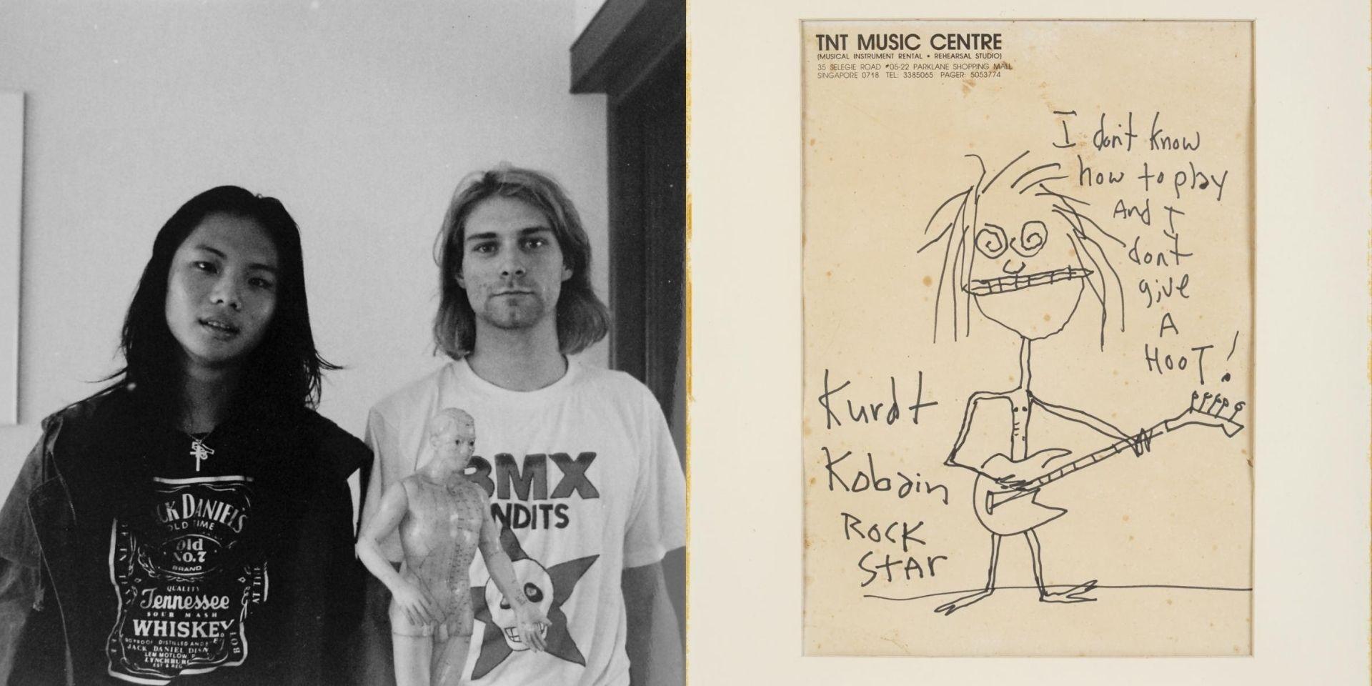 1992 self-portrait of Kurt Cobain in Singapore sells for US$281,250