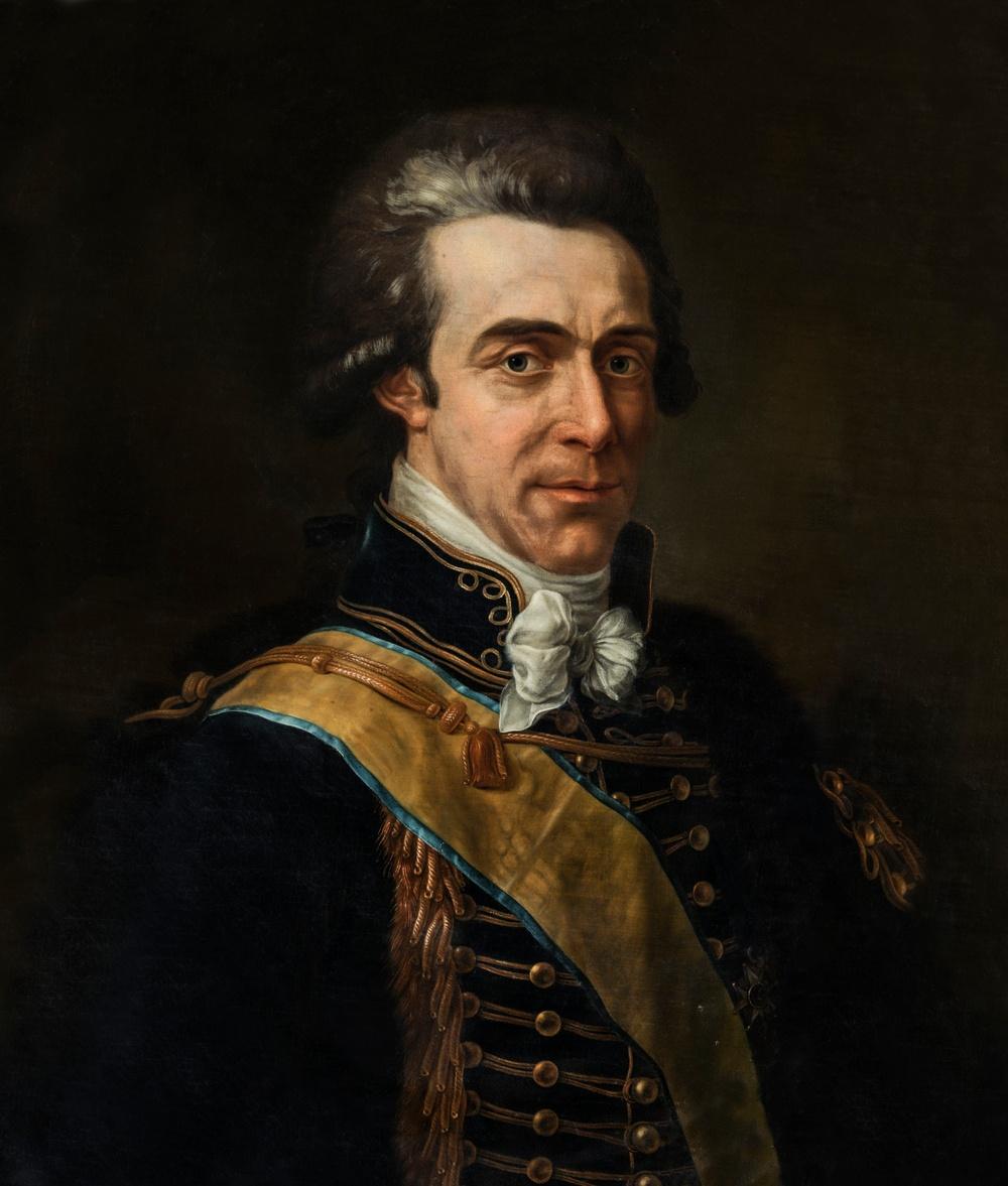Axel von Fersen, oljemålning av Pierre Dreuillon de Verneville, 1793