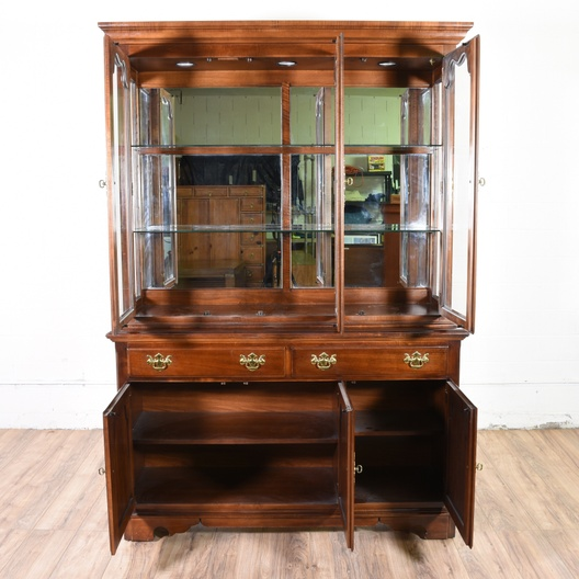 Quot Thomasville Quot Cherry China Cabinet Loveseat Vintage Furniture San Diego