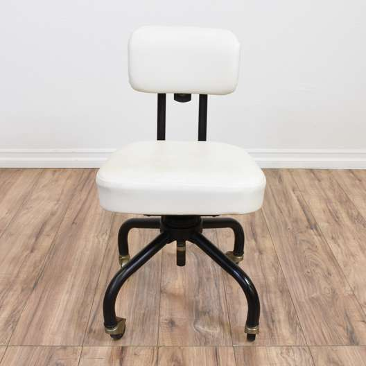 Black & White Mid Century Modern Desk Chair