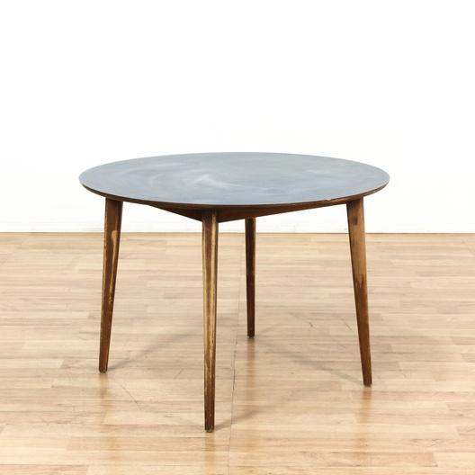 round mid century modern dining table loveseat vintage furniture los angeles. Black Bedroom Furniture Sets. Home Design Ideas