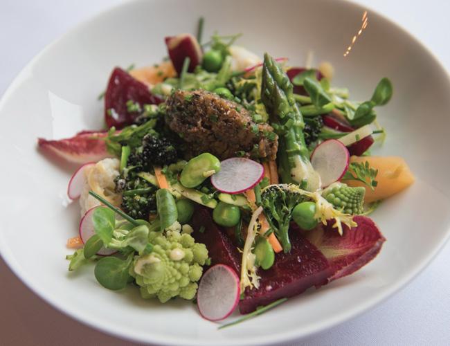 Spring garden vegetable salad at Le Roi Fou