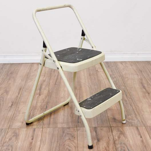"Industrial ""Cosco"" Folding Step Stool"