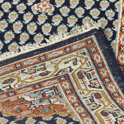 Persian Rug Los Angeles: Hand Knotted Persian Navy Rug Runner