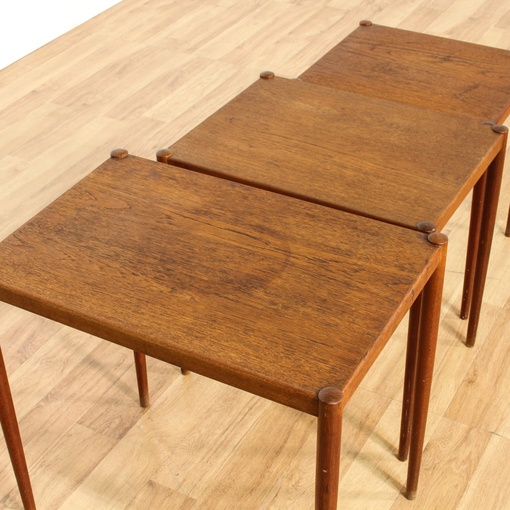 Mid century modern nesting tables loveseat vintage for Mid century furniture san francisco
