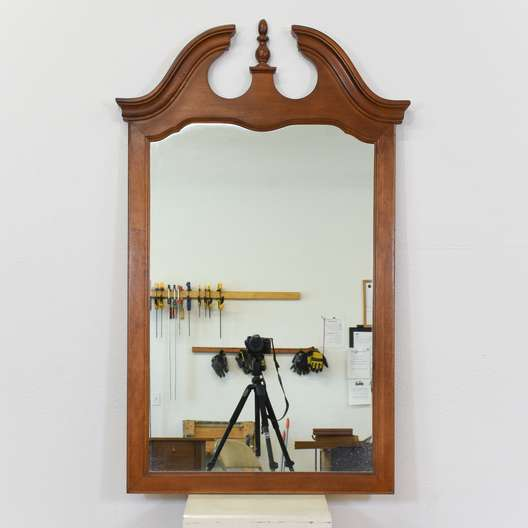 Carved Wood Colonial Mirror