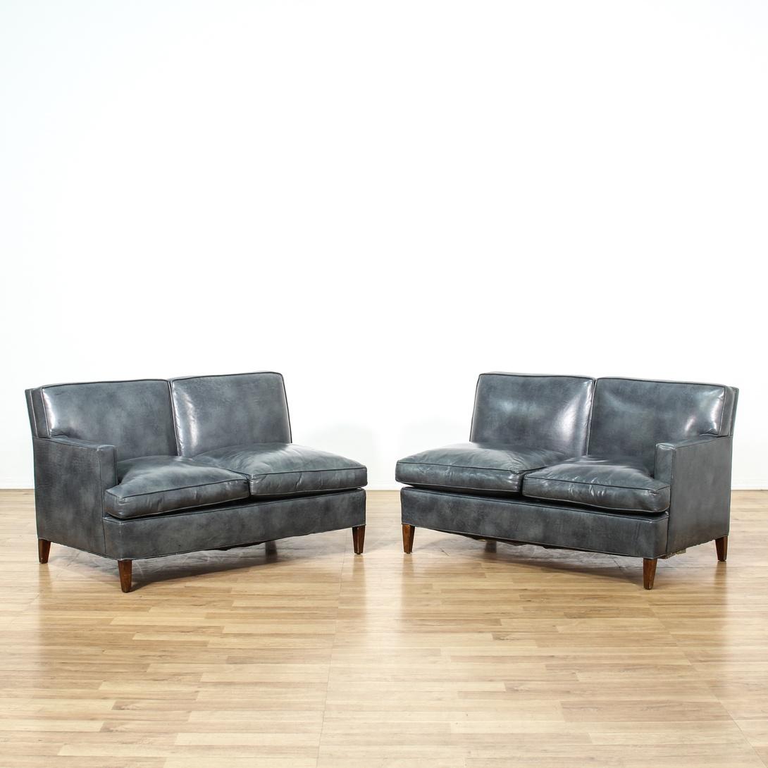 2 Piece Vinyl Sectional Sofa