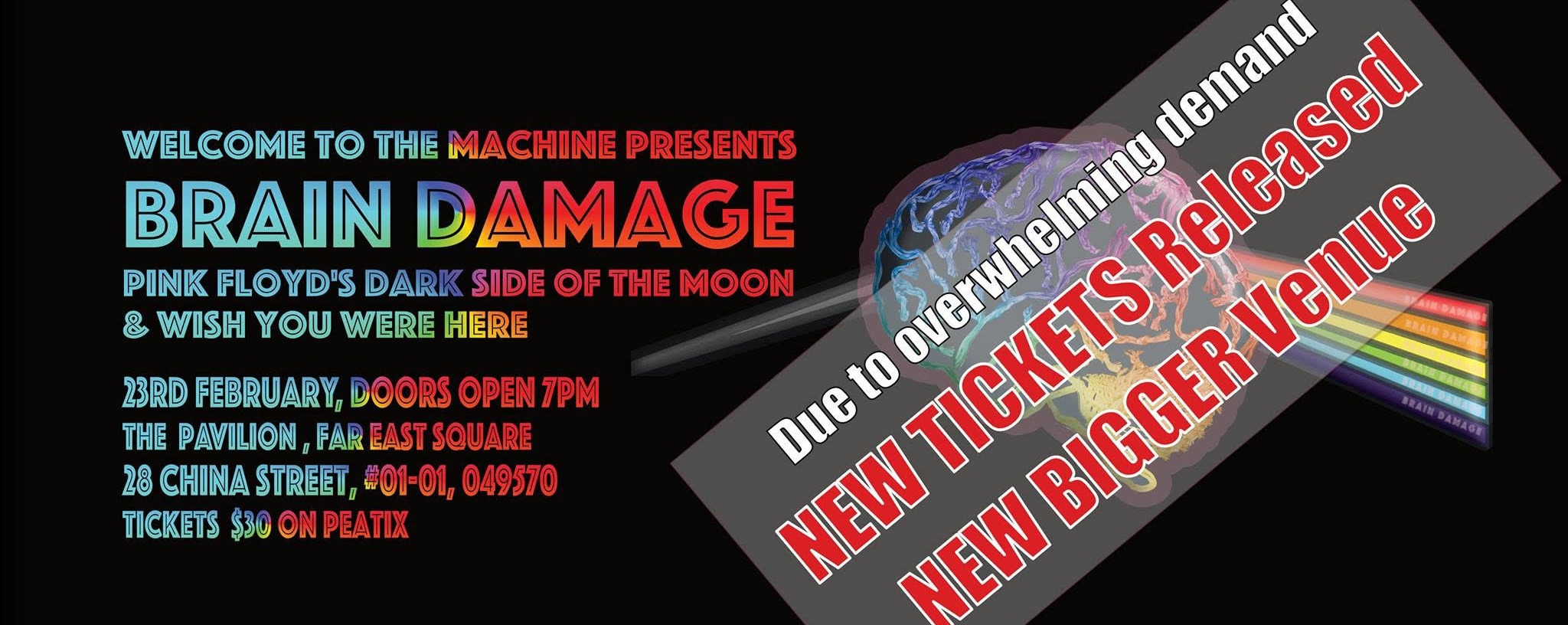 Brain Damage, Pink Floyd's Wish You Were Here & Dark Side Of The Moon in their entirety live