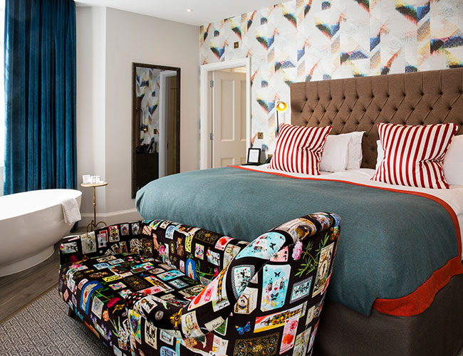 Bedroom at the Bristol Harbour hotel