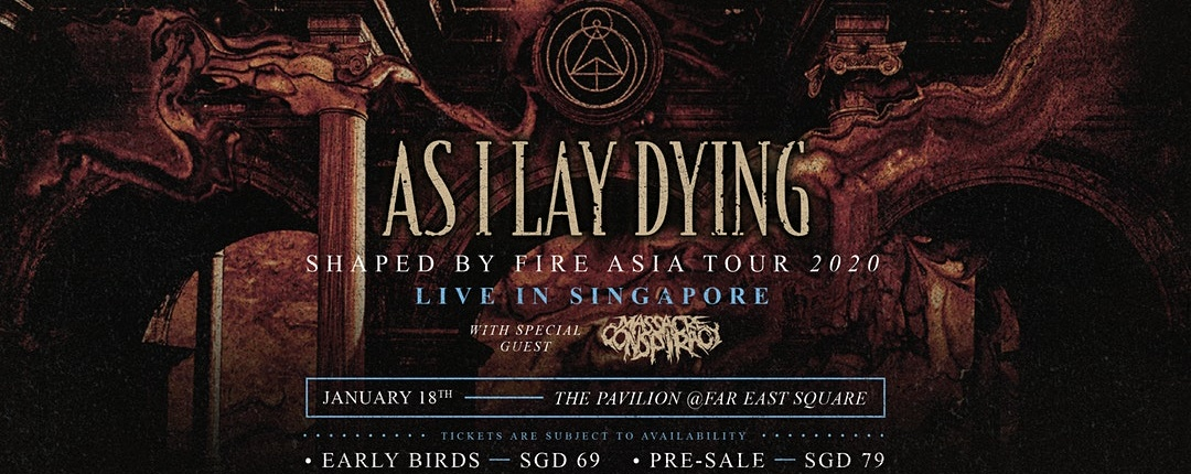 As I Lay Dying Live in Singapore, January 2020