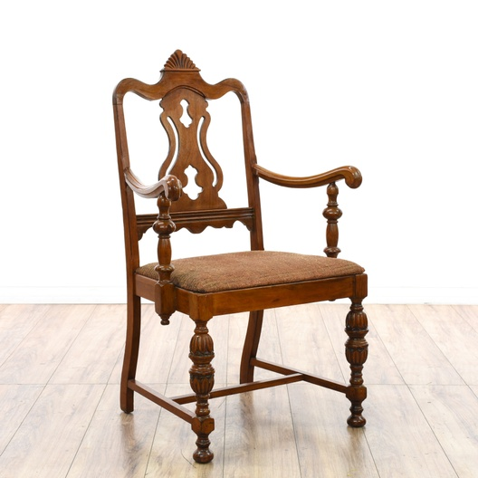 Dining Room Chairs San Diego: Wood Frame Captain's Dining Chair