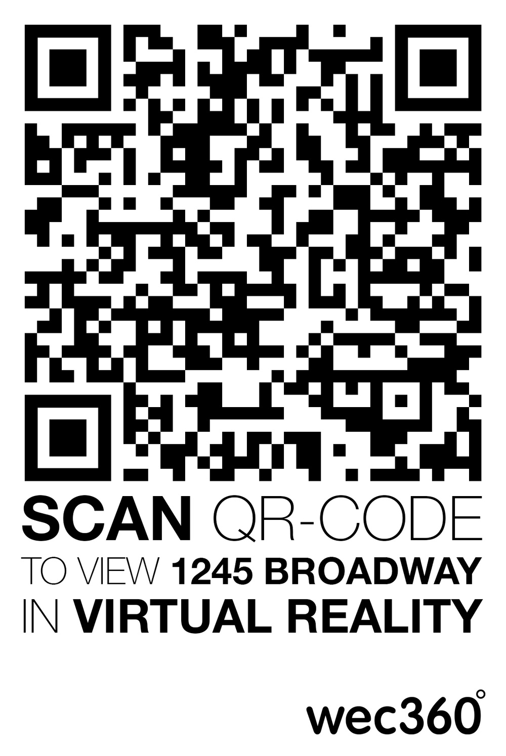 Use your smartphone to scan the QR code to see the the 1245 Broadway project in 360°/VR.