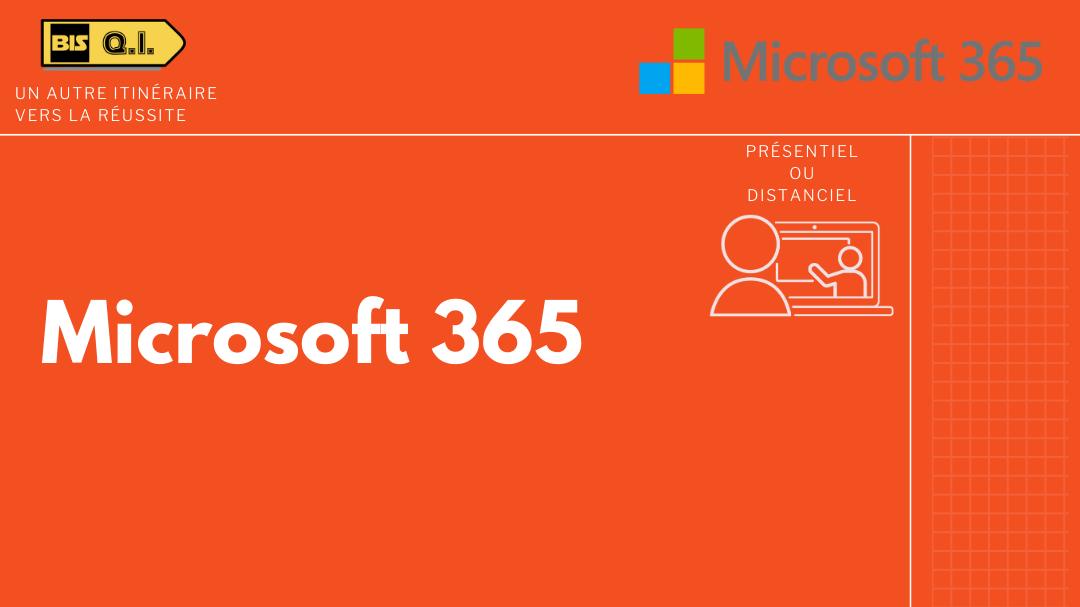 Représentation de la formation : Microsoft 365