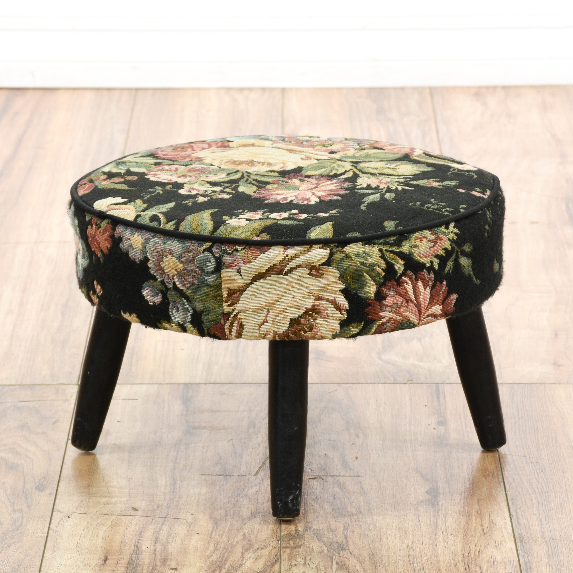 mckenzie folkland floral do product upholstered ottoman xxx world market