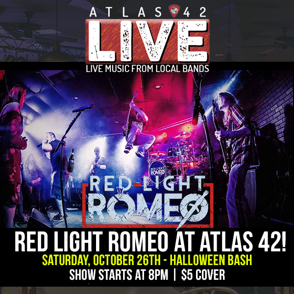 Atlas 42 - Red Light Romeo (Halloween Bash) - October 26, 2019, 8pm