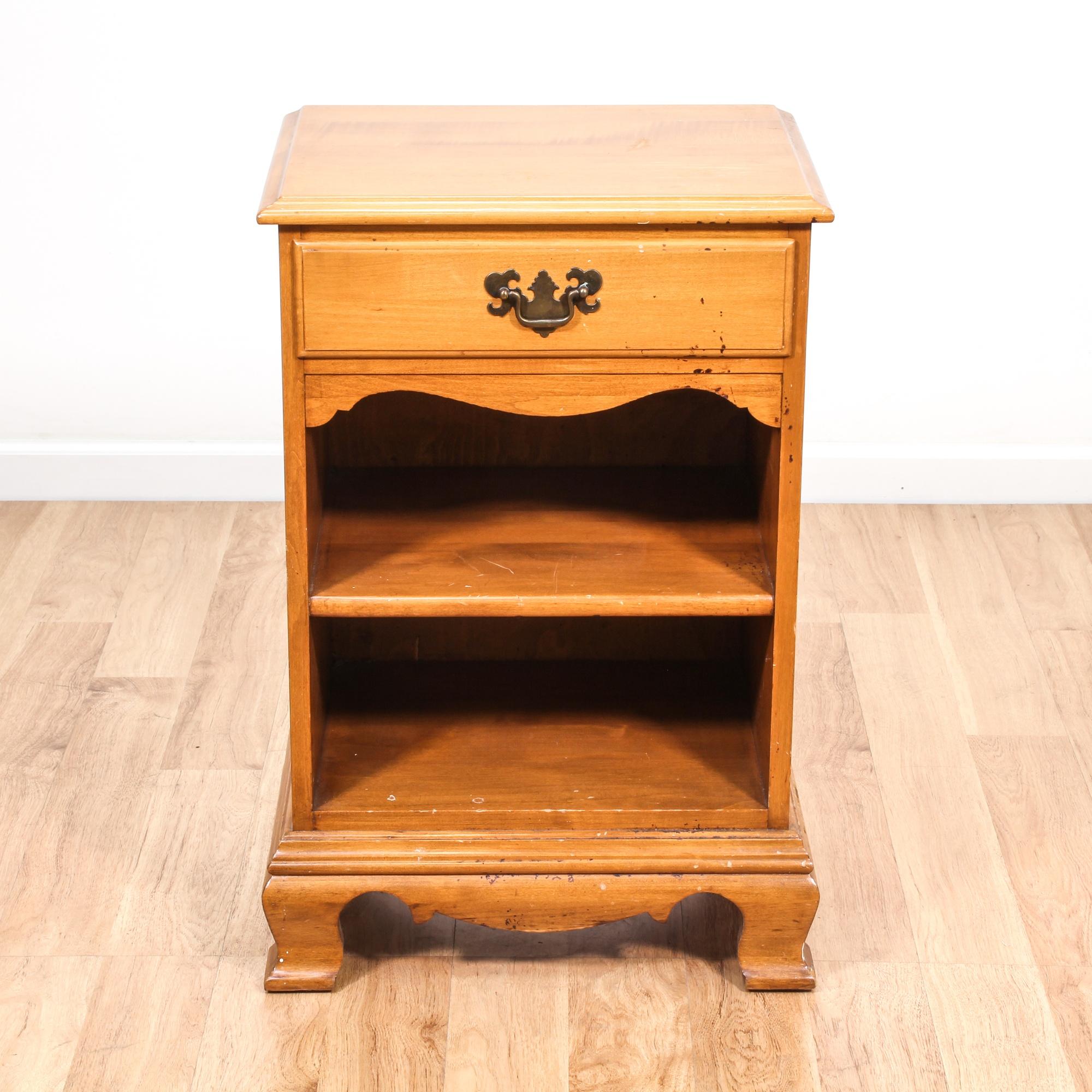 colonial craft maple carved nightstand   loveseat vintage  - colonial craft maple carved nightstand   loveseat vintage furnituresan diego  los angeles