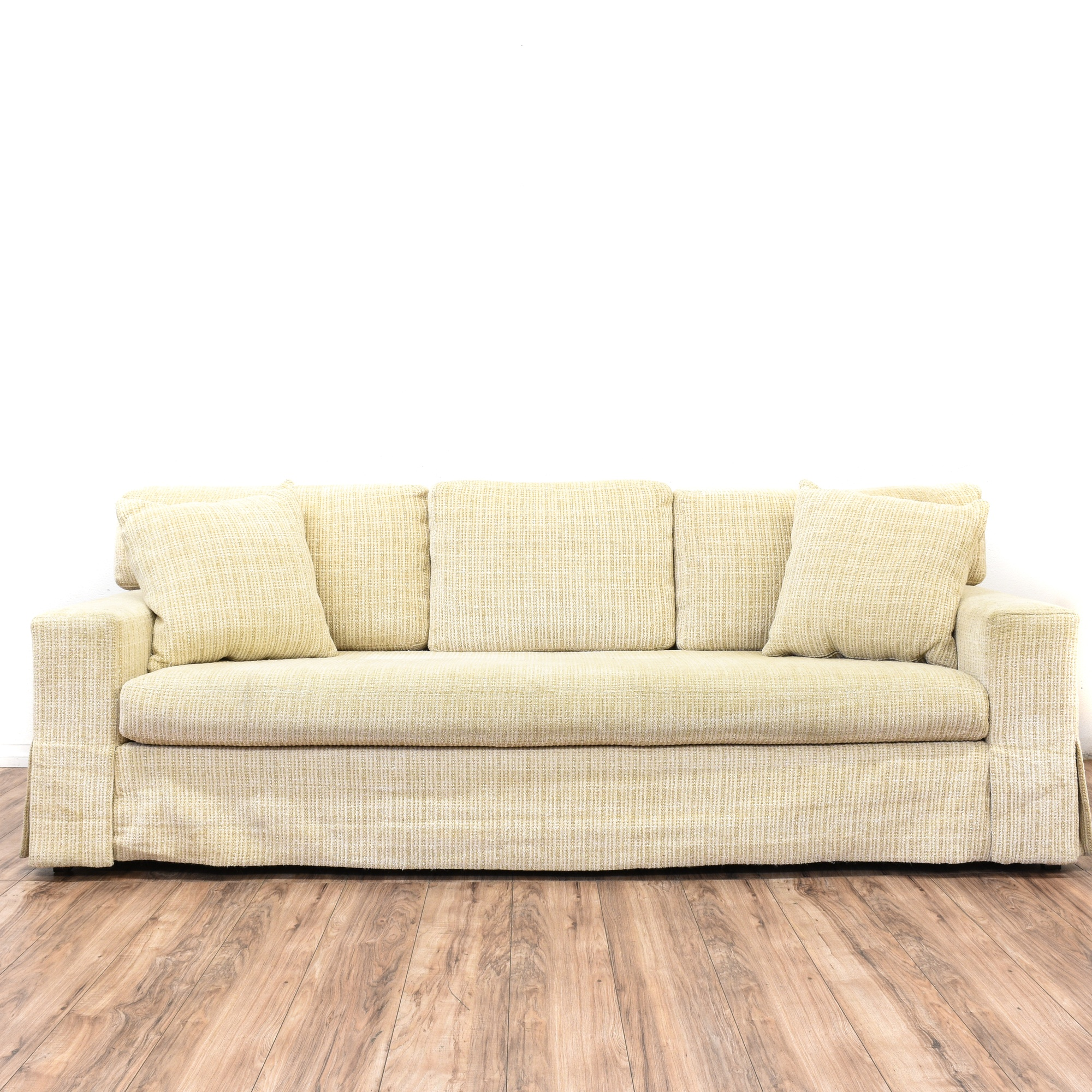 Contemporary Beige Textured Sofa