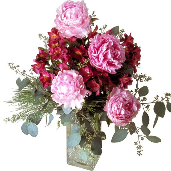 Peonies and Pine Holiday Celebration