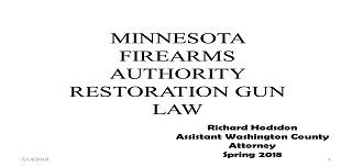 2018 May Webinar - 609.165 Gun Restoration Petitions