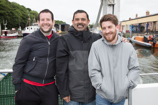 James Devine, Cyrus Todiwala and Lee Westcott (Credit: Susie Lowe)
