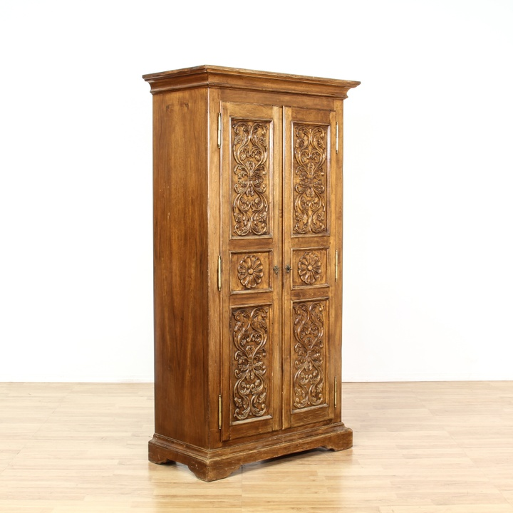 hutch kitchen cabinets rustic italian carved leaf armoire cabinet loveseat 17455