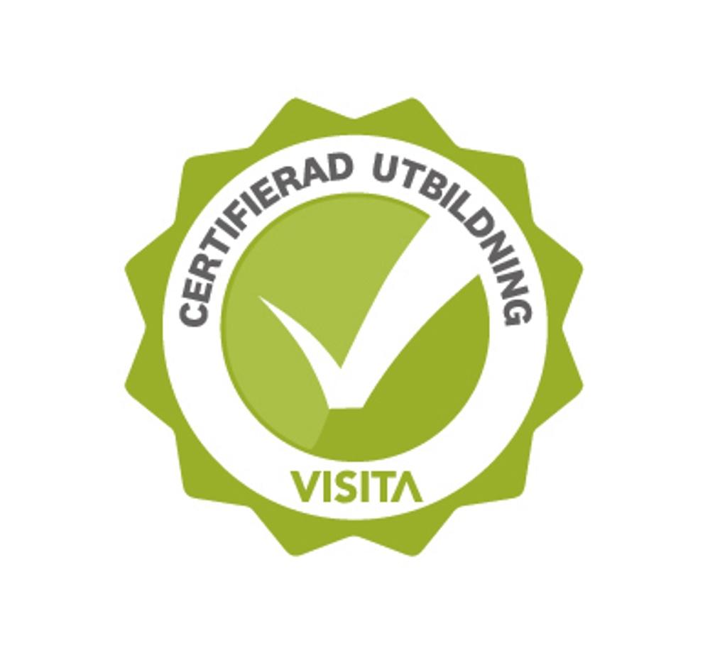 Logga certifierad utbildning.