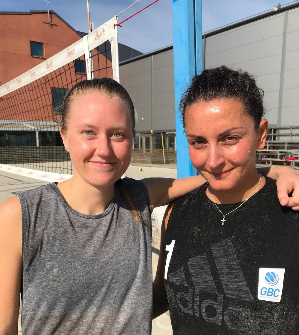Sara Malmström och Talar Kirkor är hemma i Kviberg och Beach Centers trygga famn efter strapatser i bortre Asien.